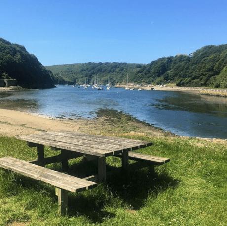 A picnic spot in Solva