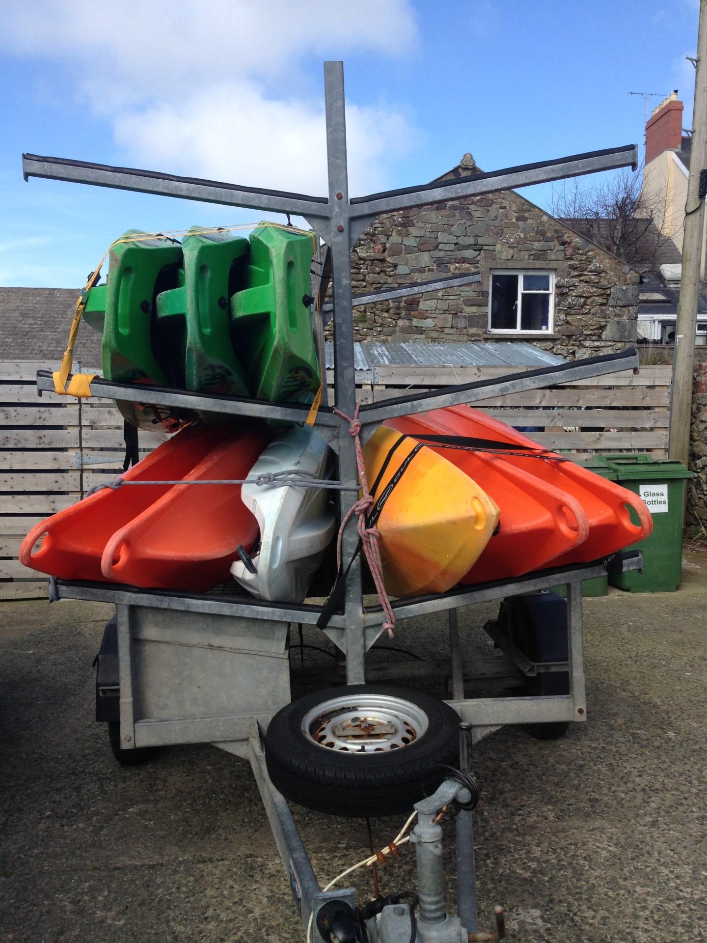Kayaks in St David's