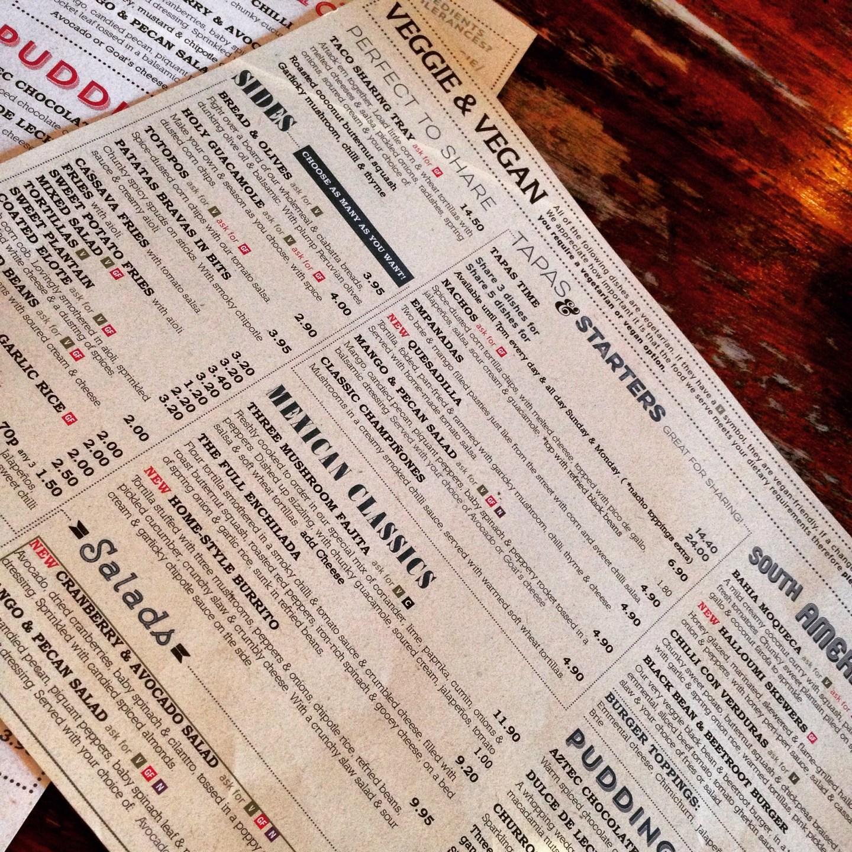 Massive veggie menu!