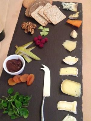 cheese board at La Fosse, cranbourne