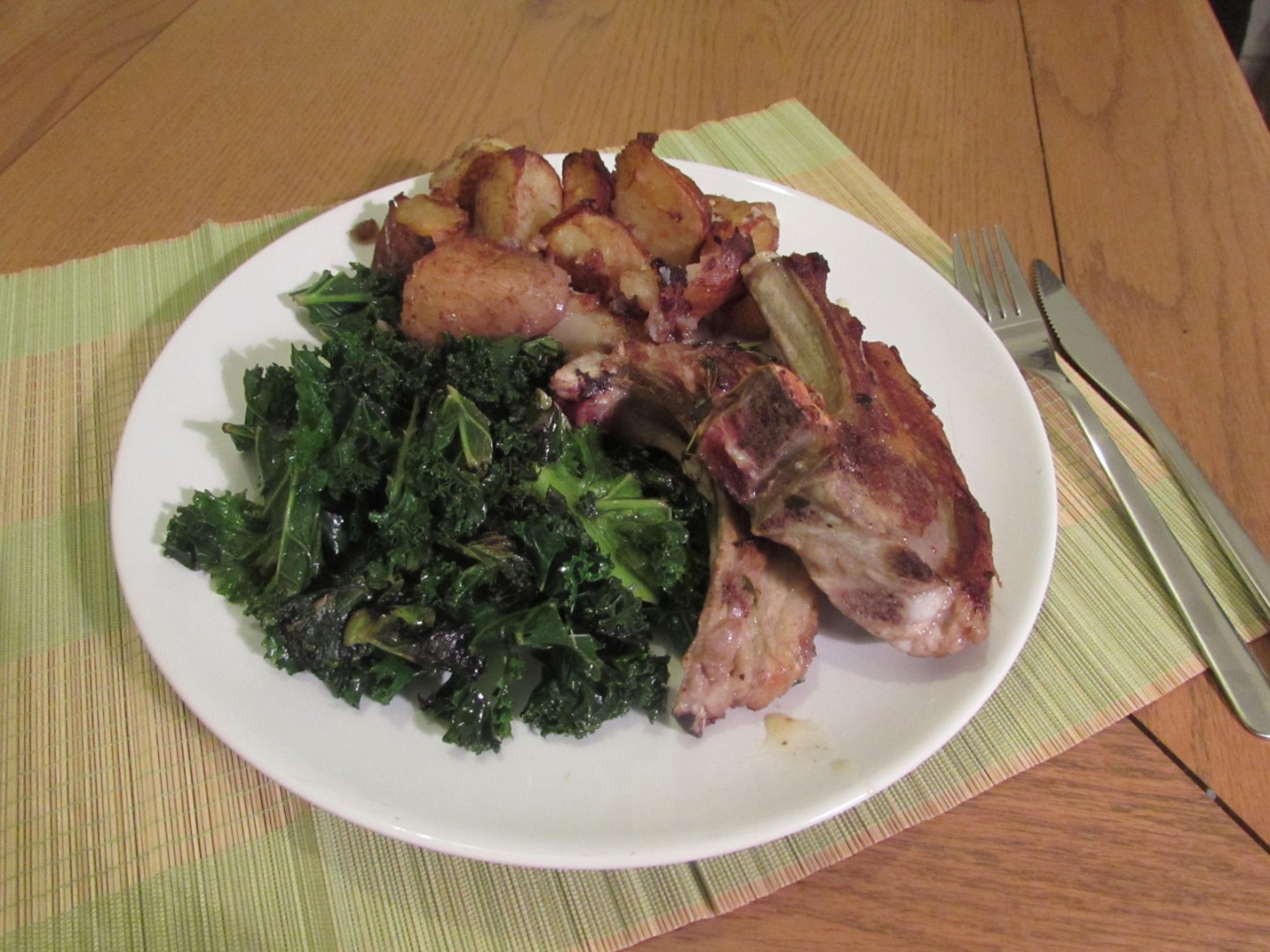 Recipe: Welsh Lamb cutlets with kale and roast potatoes