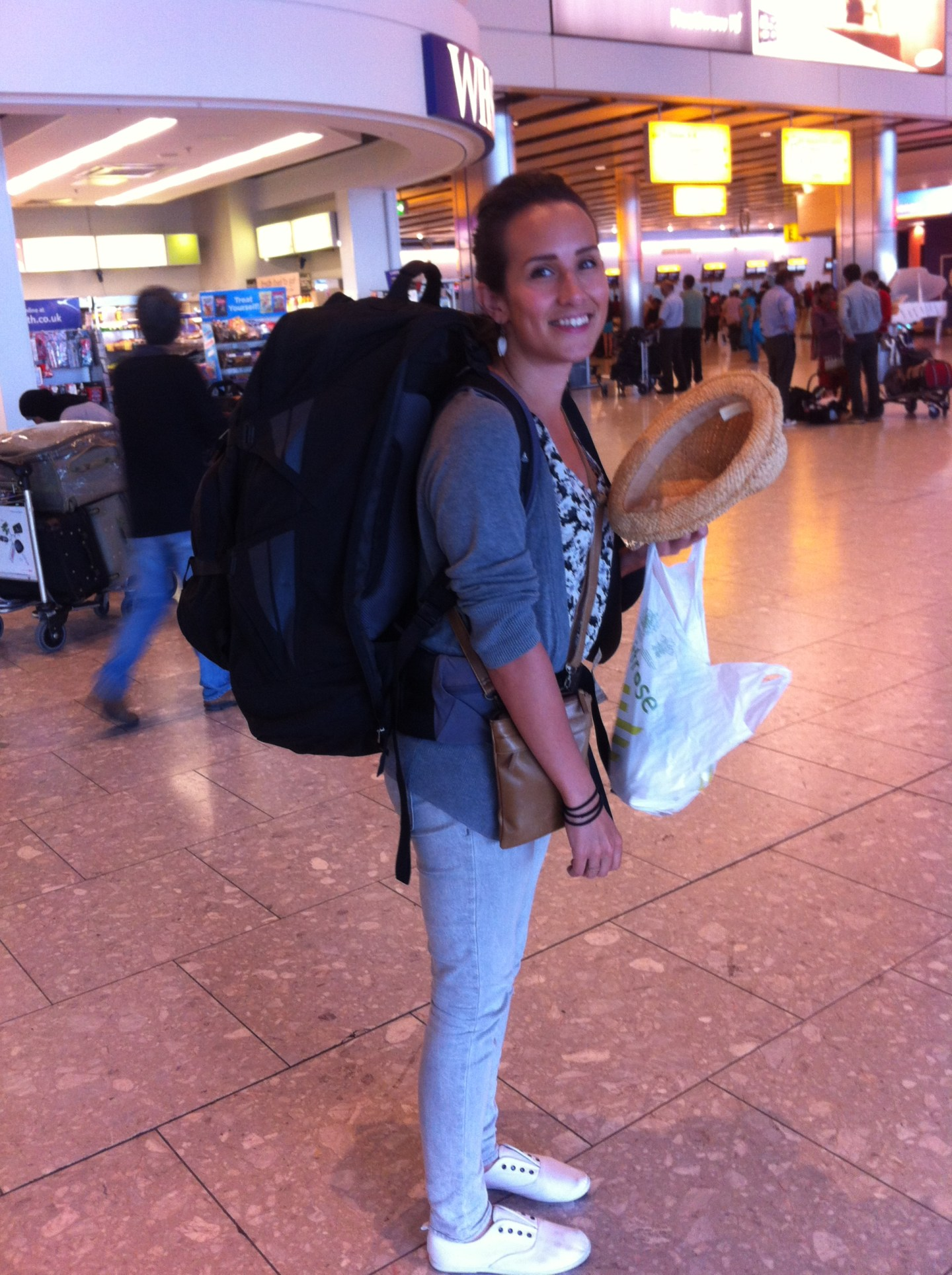 The perils of long haul travel - backpacks and back ache!
