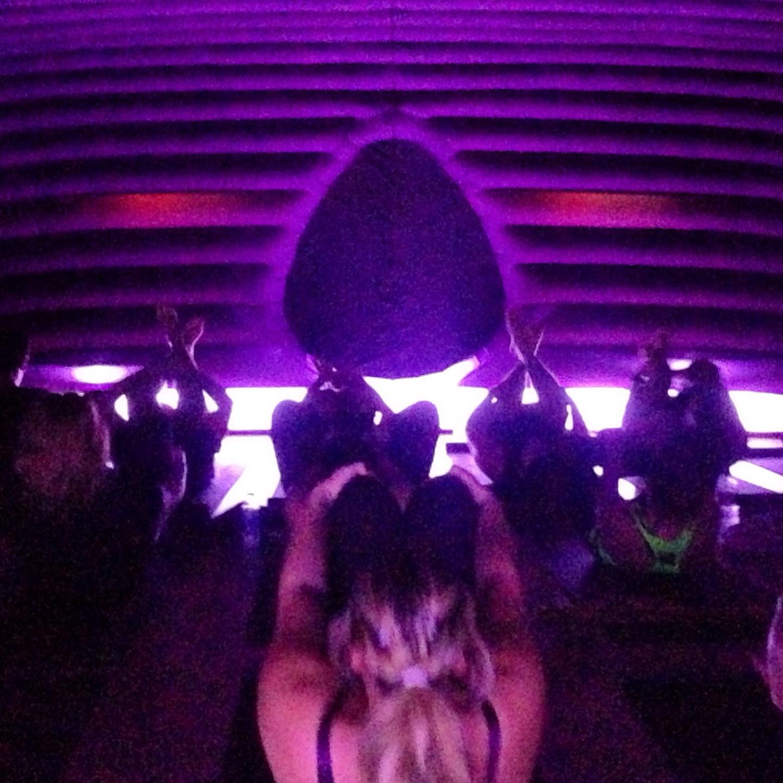 Mid-flow at Hotpod Yoga