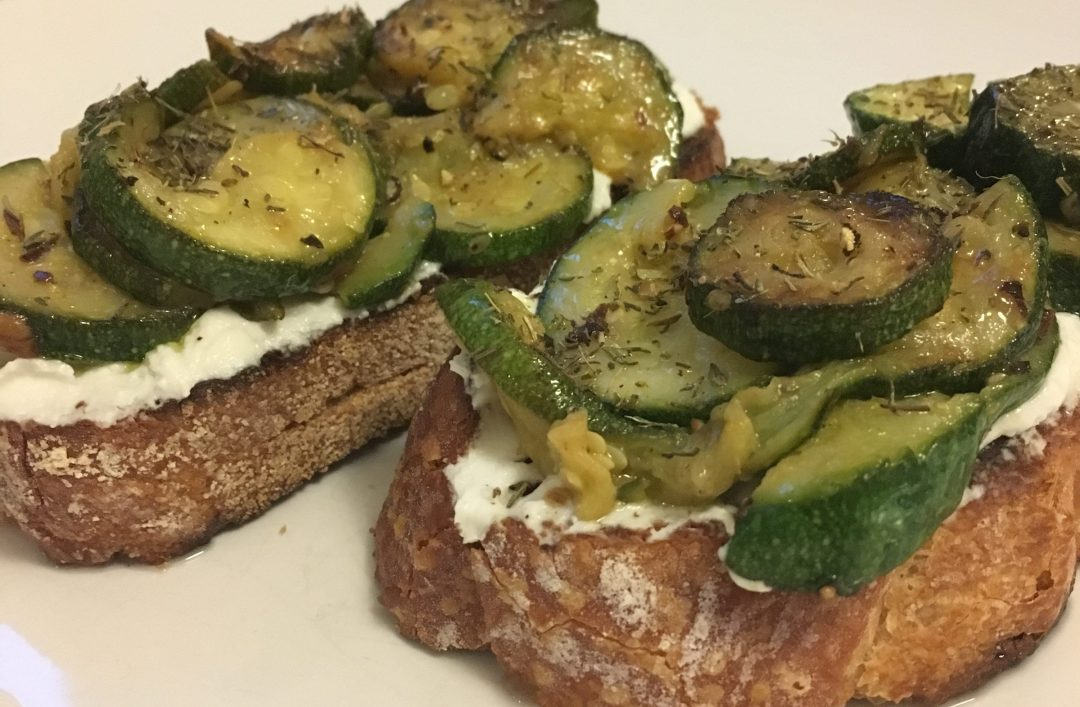Recipe: Courgette bruschetta with goats cheese