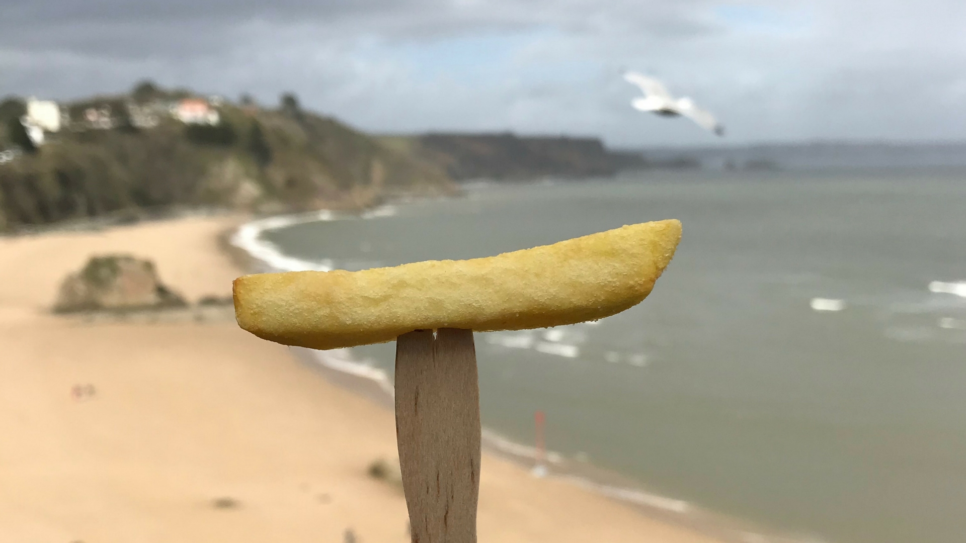 Chips on the beach!
