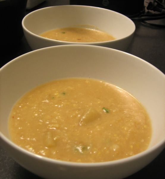 ic friendly potato corn soup