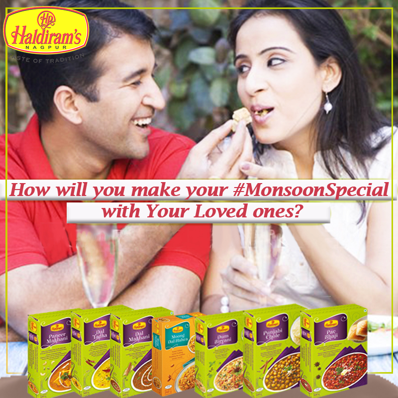 How can you make your Monsoon special with Haldirams ?