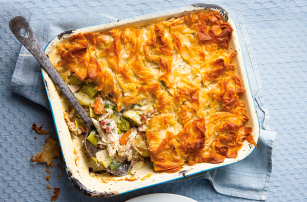 Chicken and Onion Filo Pastry Pie