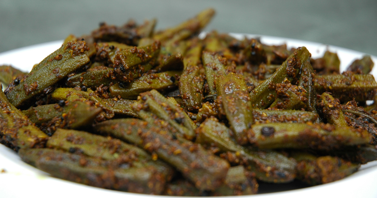Bhindi fry recipe hindi hungryforever food blog bhindi fry recipe hindi forumfinder Image collections
