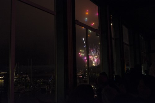 They turn off the lights during the fireworks so you can fully appreciate the fireworks.