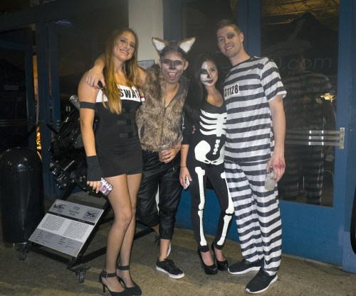 Swat, cat, skelton, and prisoner.