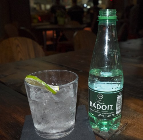 Badoit sparkling mineral water.