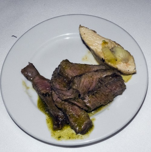 Smoked Chicken & New York steak.