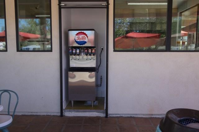 Self serve drink machine.