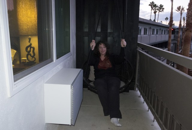 Hammock on the mini patio.