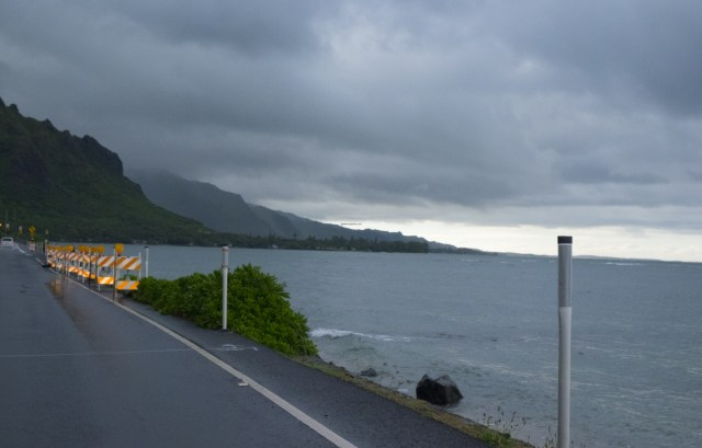 Driving away from Kaneohe