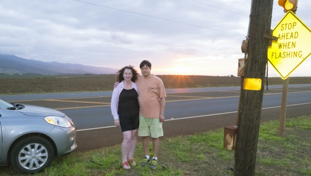 Driving away from the Dole Plantation we stopped to watch the sunset.