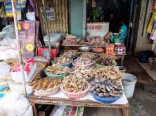Различни сушени риби от Меконг