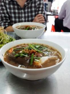 Супа с риба, нудли и патладжан