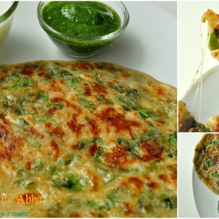 """ Spring Onion and Cheese Parantha"""
