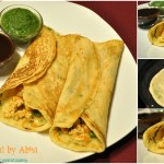 Paneer Stuffed Moong Dal Chilas