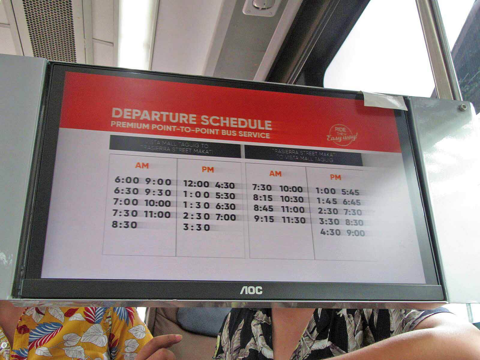 MetroExpress P2P: Taguig-Makati-Ortigas and Cavite-Alabang
