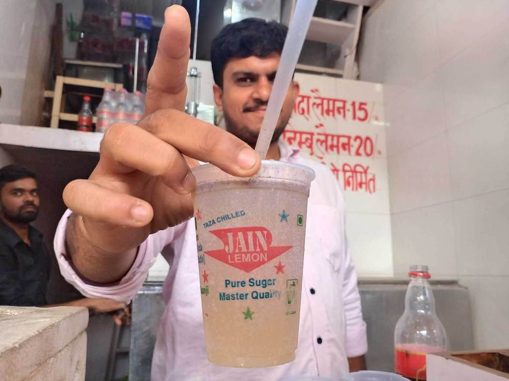 A Chef's Tour Delhi Food Walk - Old Delhi Food Tour - Jain Lemon Soda