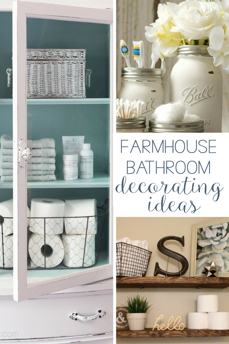19 Amazing DIY Farmhouse Bathroom Decorating Ideas | Hunny I ...