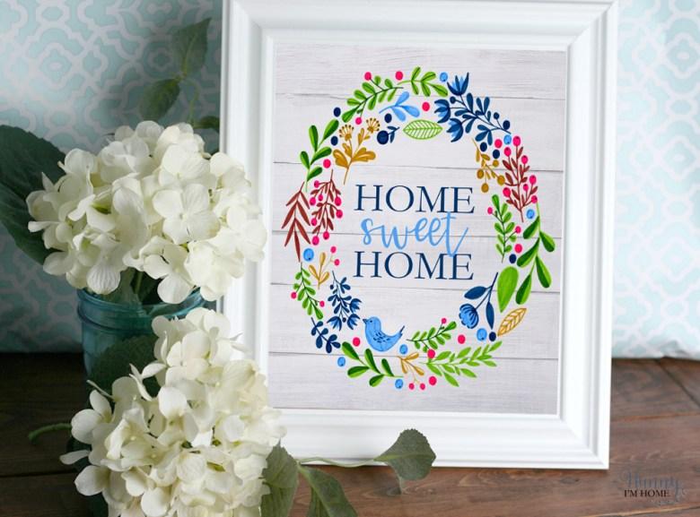 Free Farmhouse Printable Wall Art | Hunny I'm Home