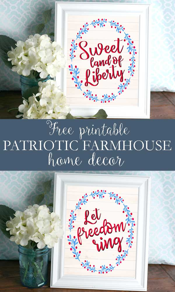 Add Some Patriotic Decor To Your Home With This Adorable Free Printable From Hunny I