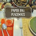 paper bag placemat