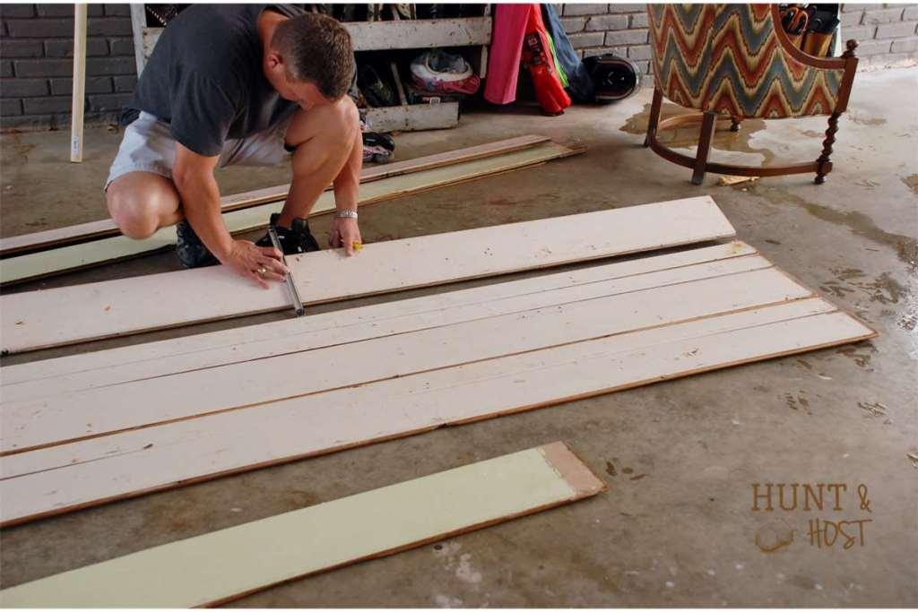 crib rail to laundry rack DIY