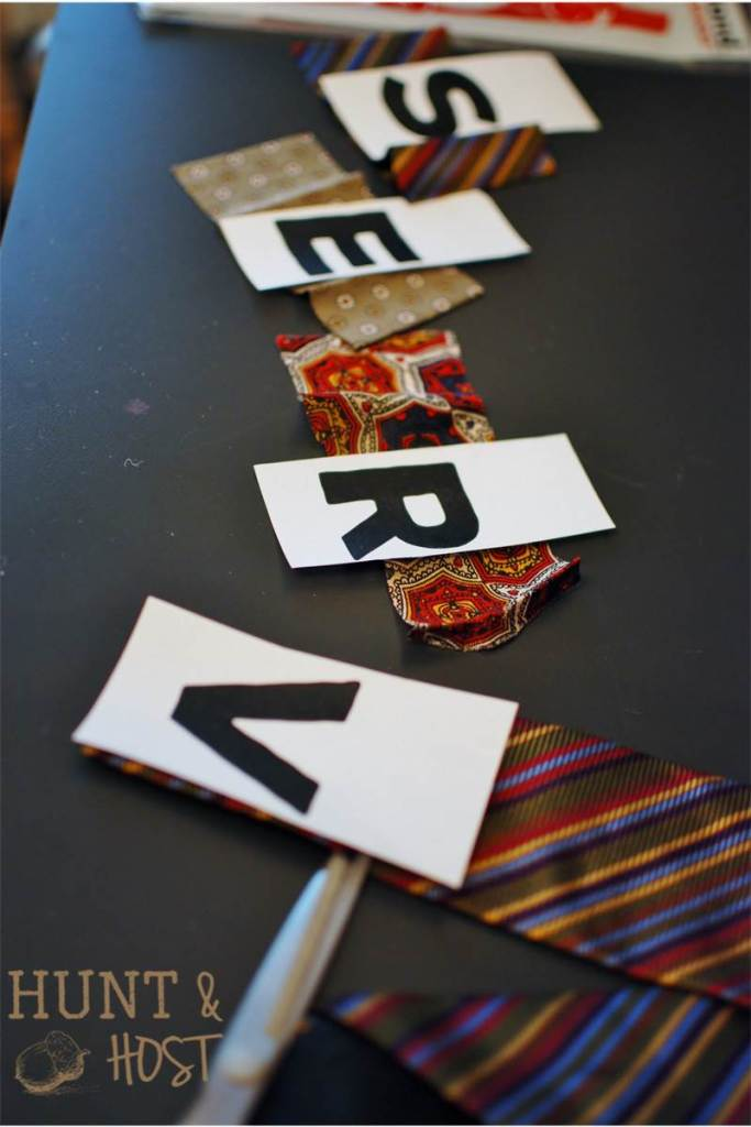 one word necktie art diy
