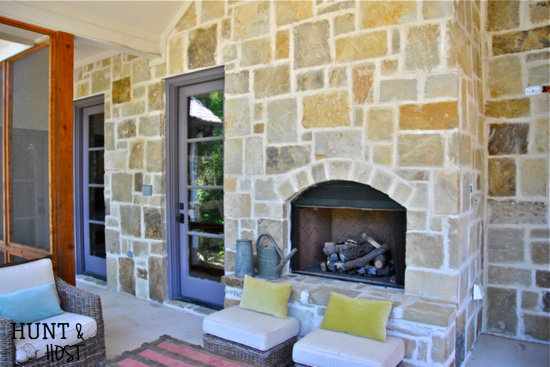 French Country home tour patio