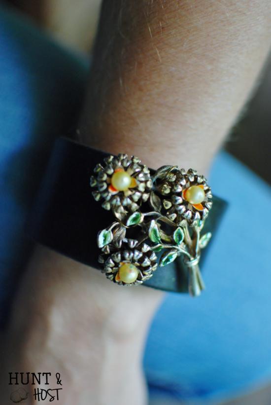 DIY Brooch bracelet tutorial