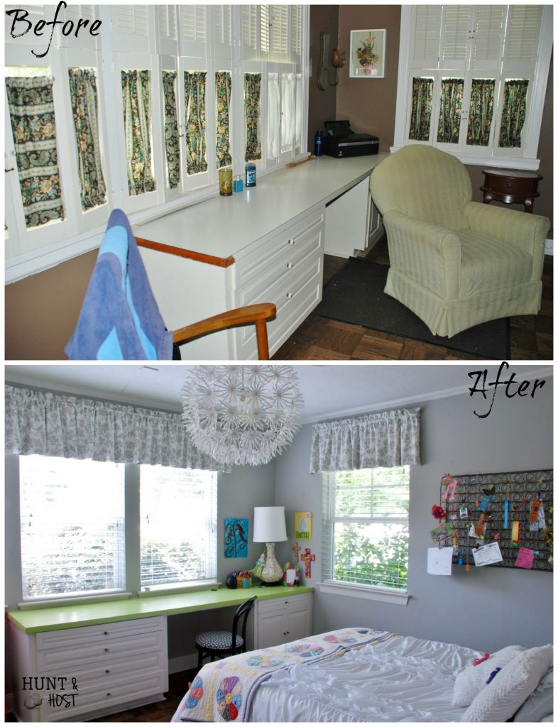 girl bedroom before and after