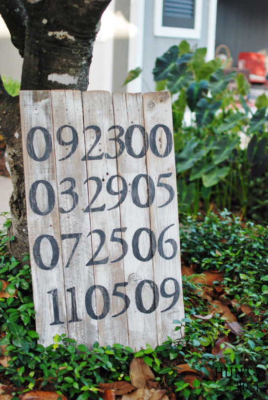 painted date board hunt and host
