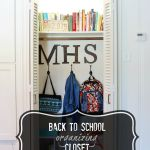 back to school organizing closet