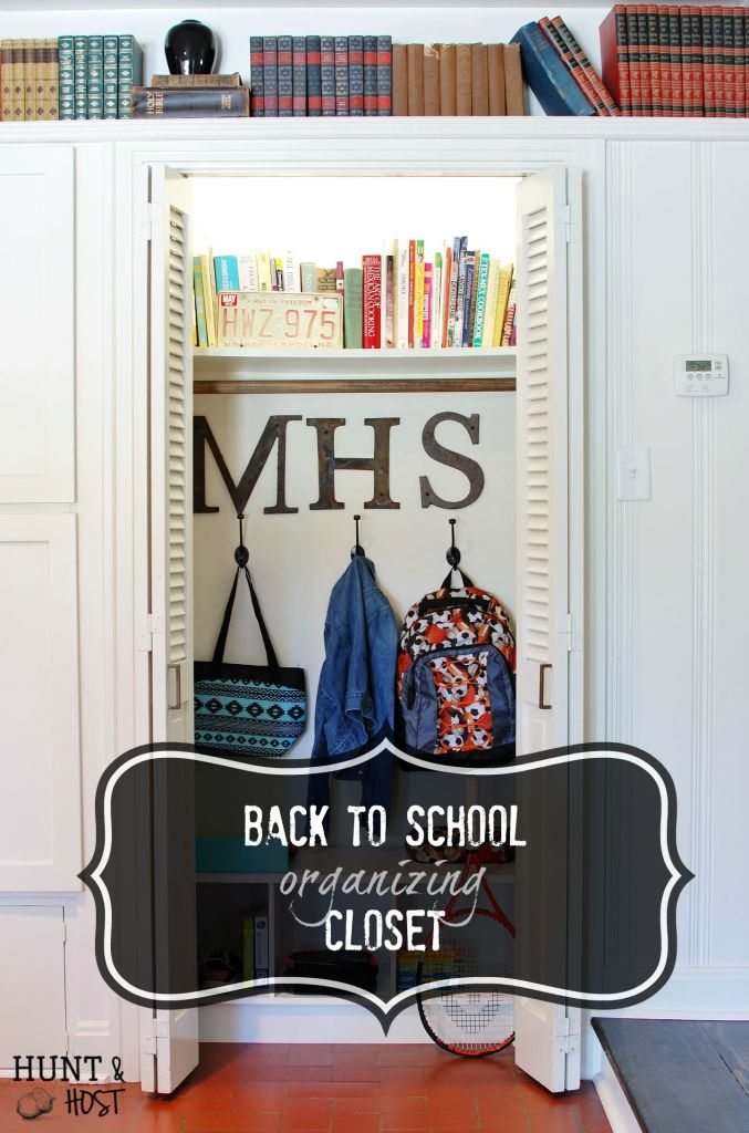 This back to school organizing closet will save you time and grief this school year!