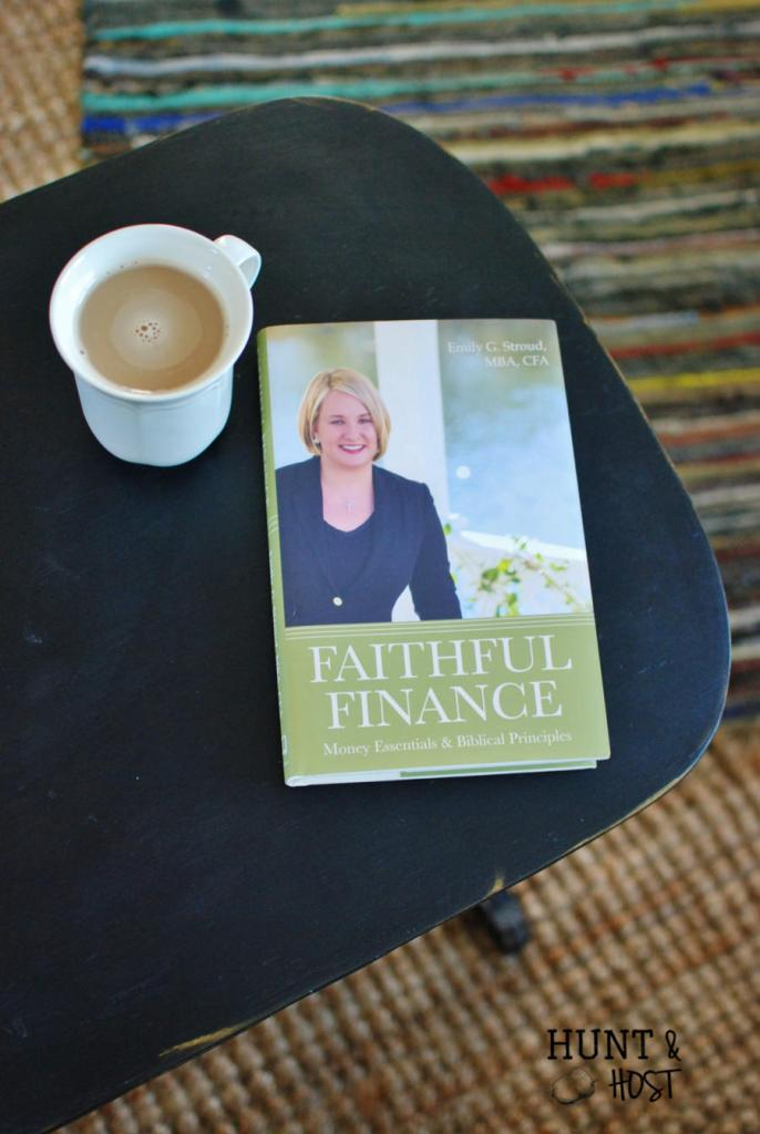 """No one says, """"Hey. let's have coffee and talk about money"""" finances can be the boss of us. Come over as I chat with Emily Stroud, author of Faithful Finance over coffee and see how easy she makes talking about money! www.huntandhost.net"""