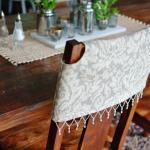 What to do when you don't want to paint your dining room furniture, but you want a change! www.huntandhost.net