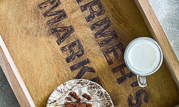 Branded Stencil Farmhouse Tray
