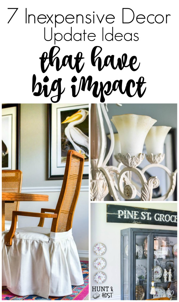 Here are some inexpensive dcor update ideas that have big impact on your  room refresh