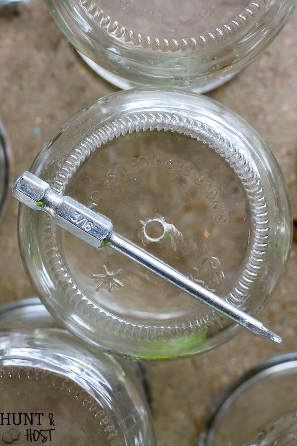 DIY rain chain tutorial, easy and inexpensive oui yogurt jar crafts. This rain chain makes a rainy day beautiful!