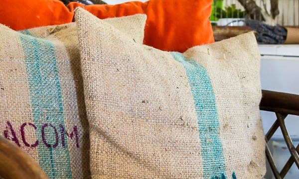Coffee Bean Sack Pillow Covers