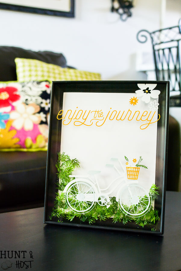 update-gold-picture-frame-bicycle-stencil-chalk-couture-3 - Hunt and ...