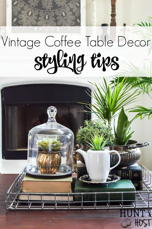 vintage coffee table decor salvaged