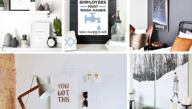 20 Gorgeous Ways to Display Free Printables