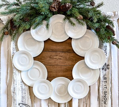 How to Make An Ironstone Plate Wreath