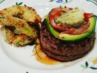 Stuffed Venison Burgers with Avocado